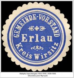 Gemeinde - Vorstand Erlau - Kreis Wirsitz