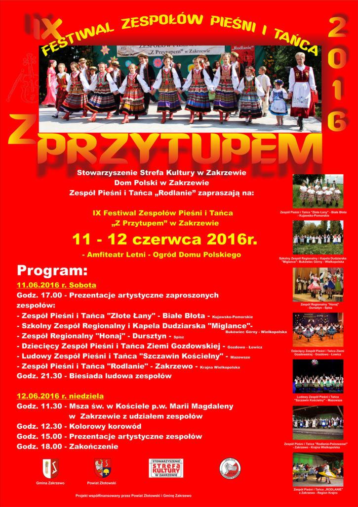 Plakat 2016 - A1 czerwony 1600