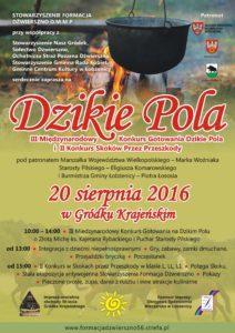 DZIKIE POLA plakat 2016